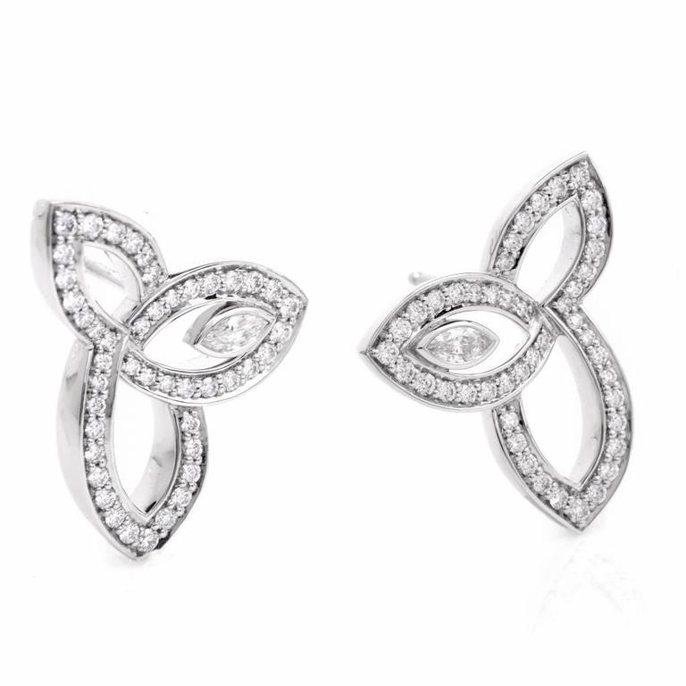 stud classic crislu earrings platinum