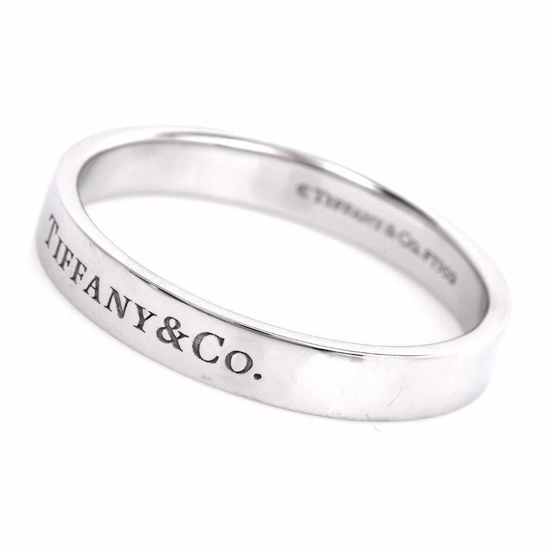 Tiffany And Co Mens Platinum Wedding Ring For Sale At 1stdibs