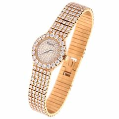 Piaget Ladies Diamond Gold Dress Wristwatch