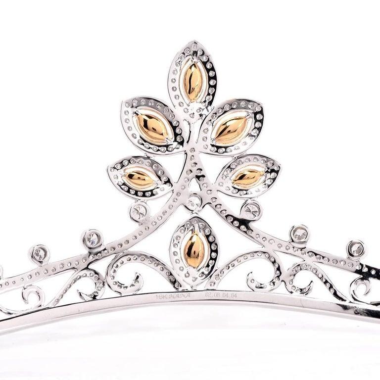 GIA Certified Natural Fancy Diamond Gold Tiara 7