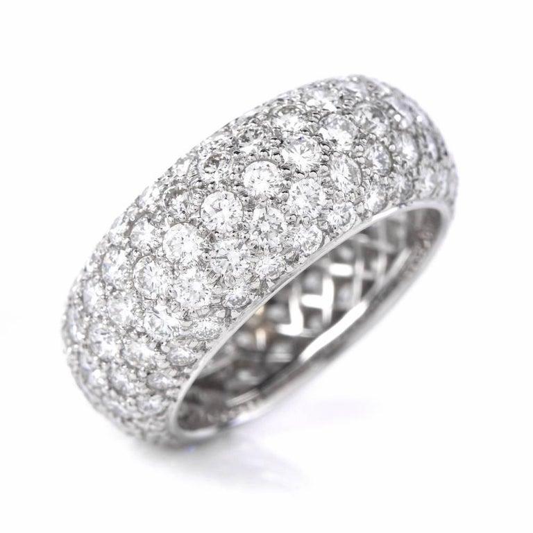 Tiffany And Co Etoile Five Row Pave Diamonds Eternity