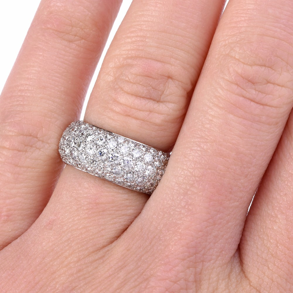Tiffany and Co. Etoile Five-Row Pave Diamonds Eternity Ring in ...