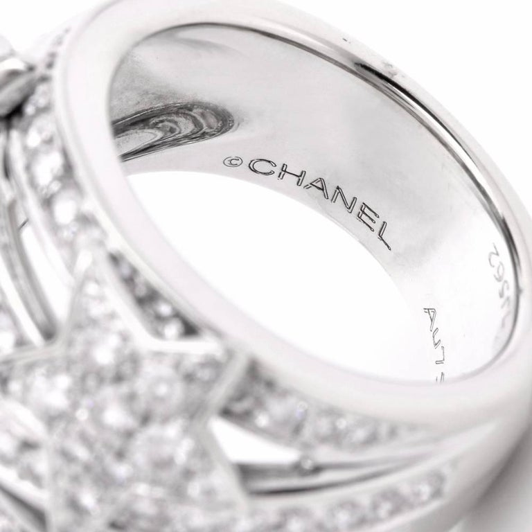 Chanel Comète Collection Stars Diamond Cocktail Ring 8
