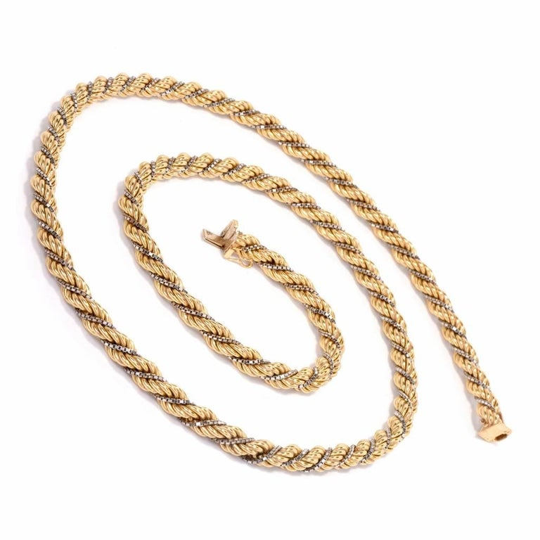 reverse twisted coast rope gems gold gulf chain products boho necklace gfrr large chains filled