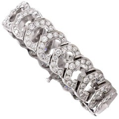 Cartier 'C De Cartier French Diamond Gold Bracelet