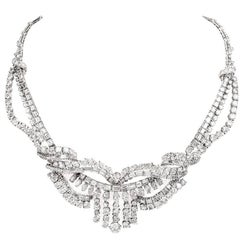 1950s 65.00-Carats Diamond Platinum Necklace
