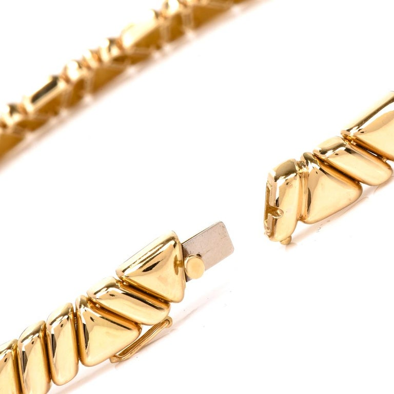 1980s Designer Diamond Gold Choker Necklace For Sale 2