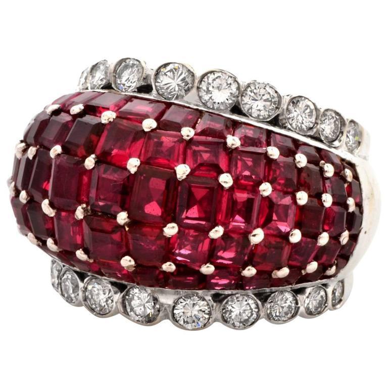 Ruby Diamond Dome Ring