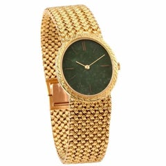 Piaget Jade Dial Manual Wind Gold Ladies Wristwatch