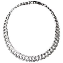 "Cartier ""C de Cartier"" French White Gold Diamond Necklace"