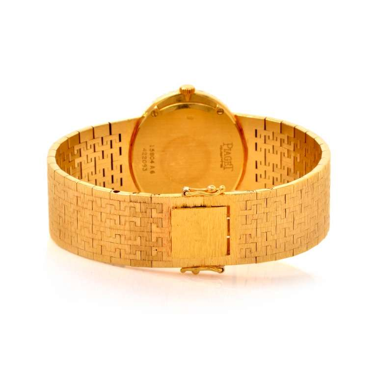 Piaget Lady's Yellow Gold and Diamond Bracelet Watch 6
