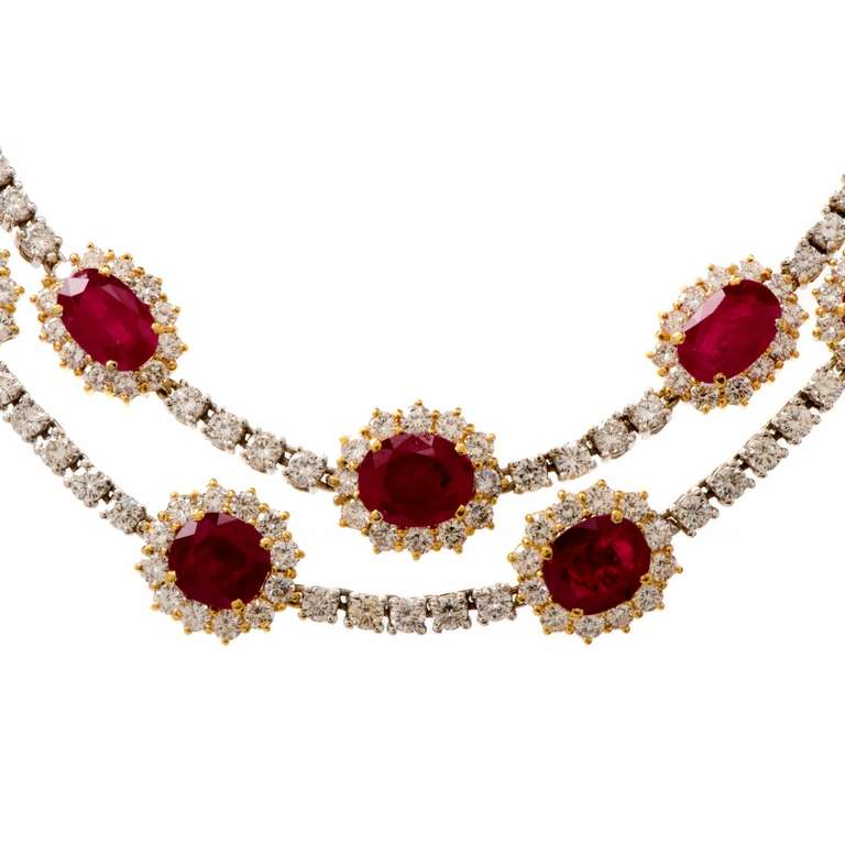 Important Ruby and Diamond Gold Necklace 2