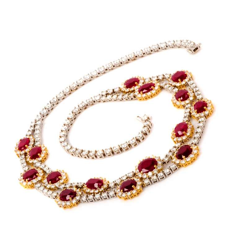 Important Ruby and Diamond Gold Necklace 3