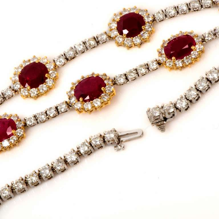 Important Ruby and Diamond Gold Necklace 4