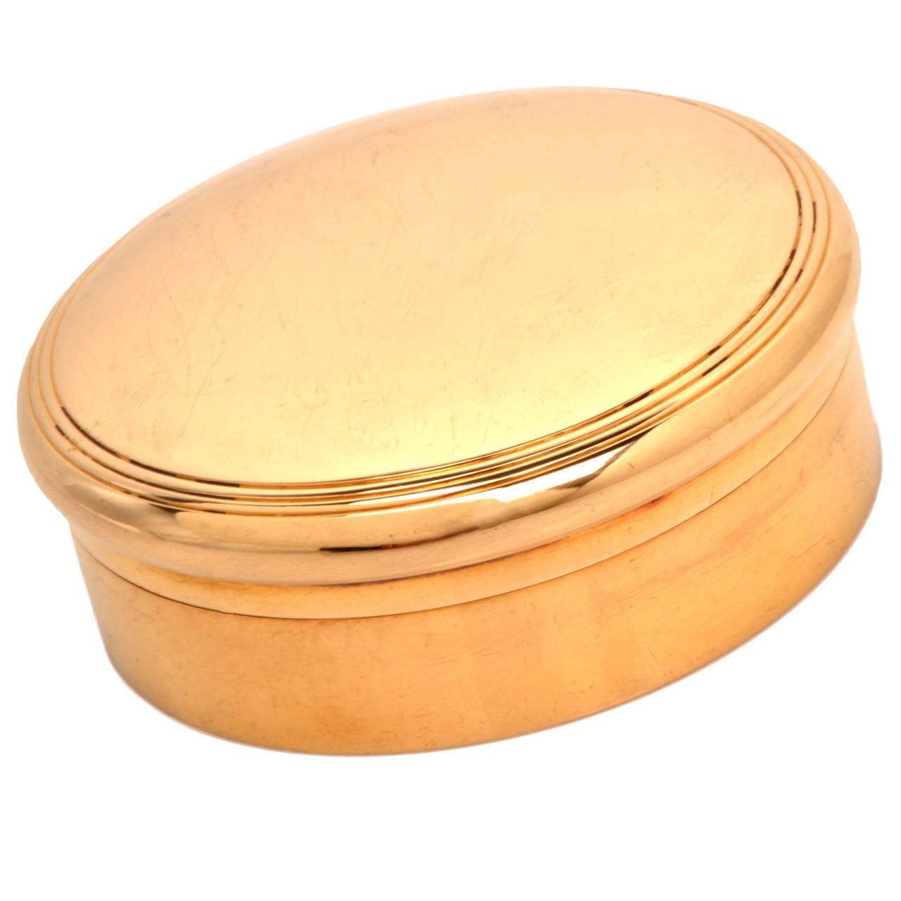 Antique Tiffany & Co.  Rare  Gold Pill Box