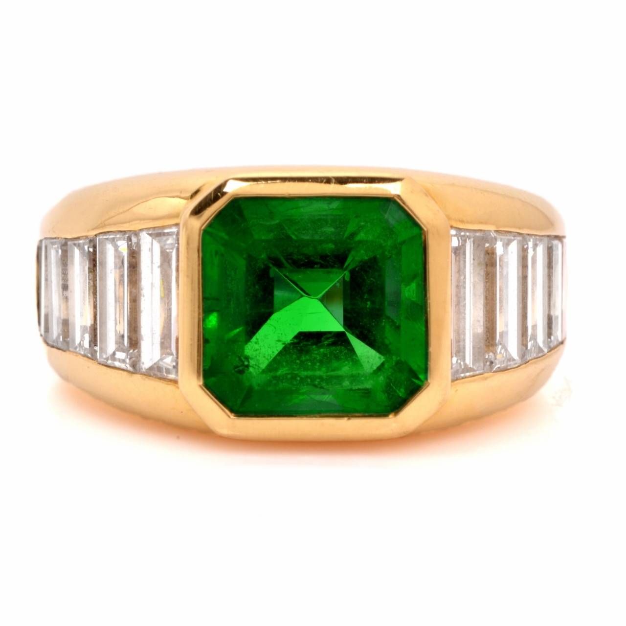 and co certified emerald baguette