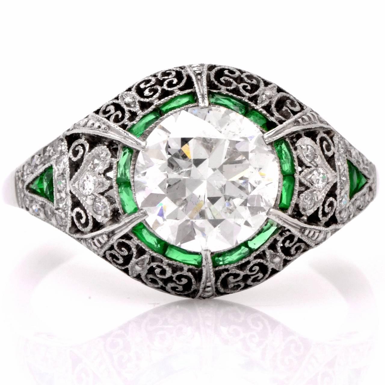 Wedding Ring Filigree 84 Great Emerald filigree engagement rings