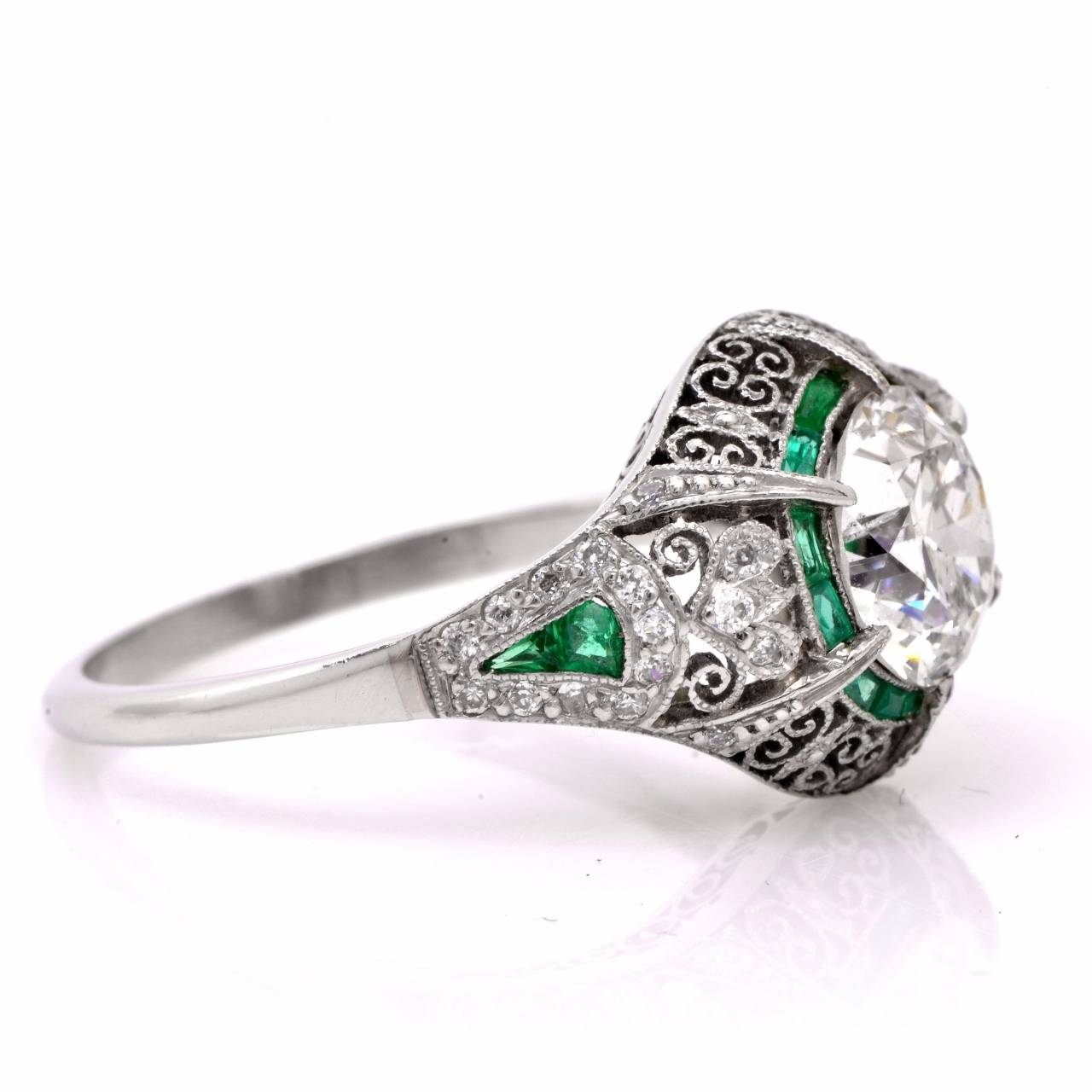 Wedding Ring Filigree 39 Awesome Emerald filigree engagement rings