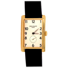 Patek Philippe Yellow Gold Gondolo Wristwatch Ref 5009 circa 2000s