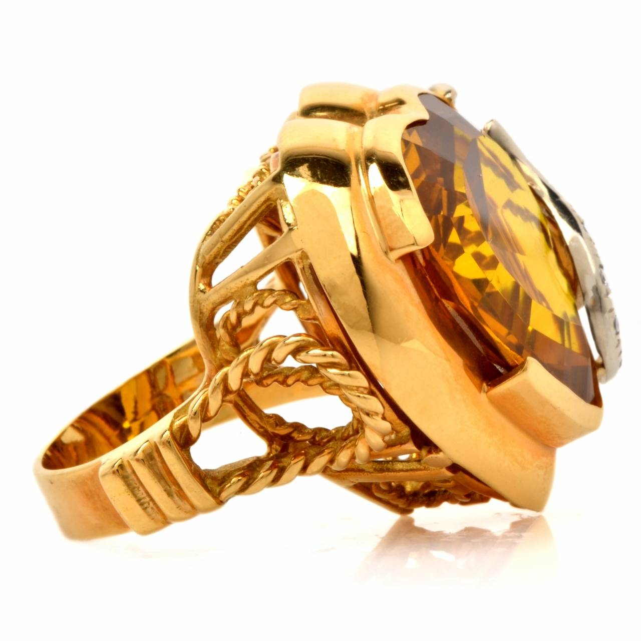 italian gold cocktail ring at 1stdibs