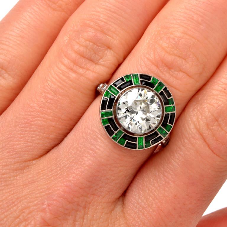 onyx platinum engagement ring at 1stdibs