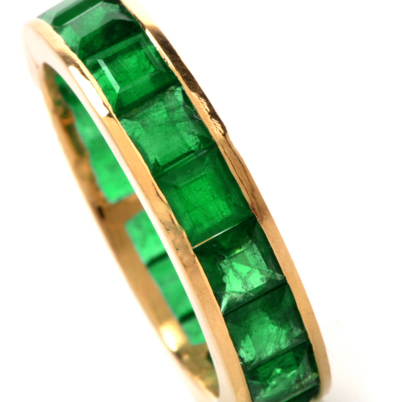 emerald gold eternity band at 1stdibs