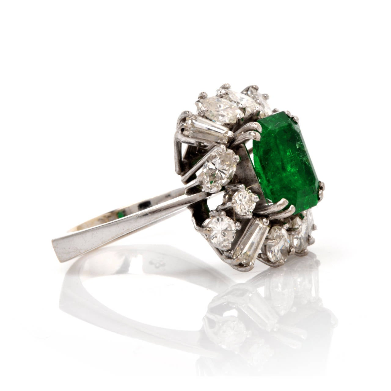 Emerald Diamond Gold Cocktail Ring 3