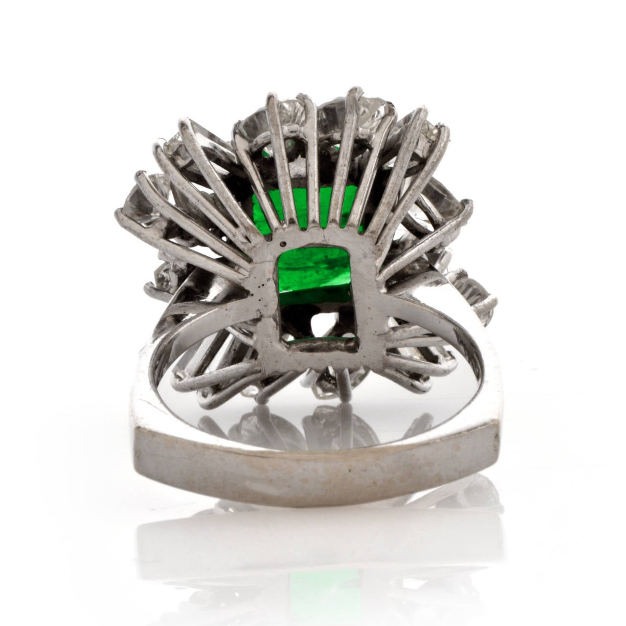 Emerald Diamond Gold Cocktail Ring 4