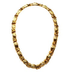 Henry Dunay Heavy Hand-Hammered Gold Necklace