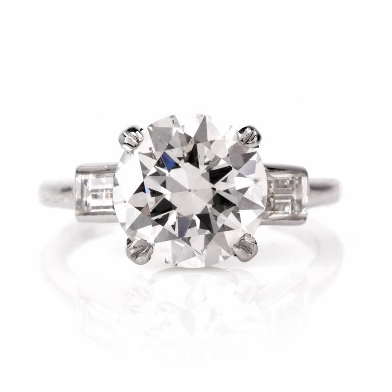 Cartier Diamond Platinum Solitaire Engagement Ring 4