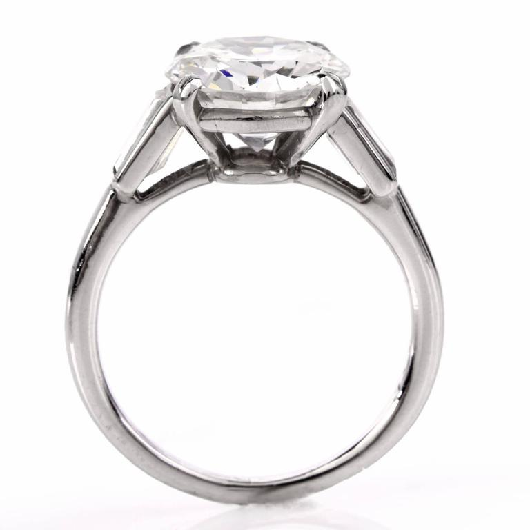 Cartier Diamond Platinum Solitaire Engagement Ring 2