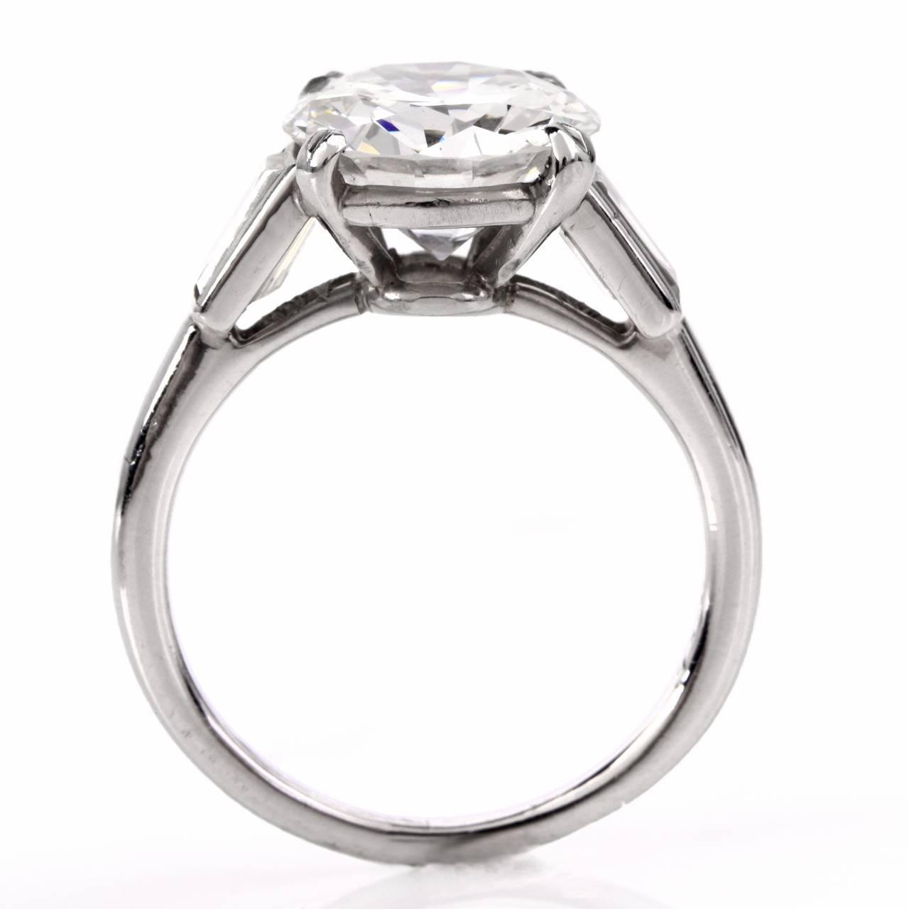 Cartier Platinum: Cartier Diamond Platinum Solitaire Engagement Ring For