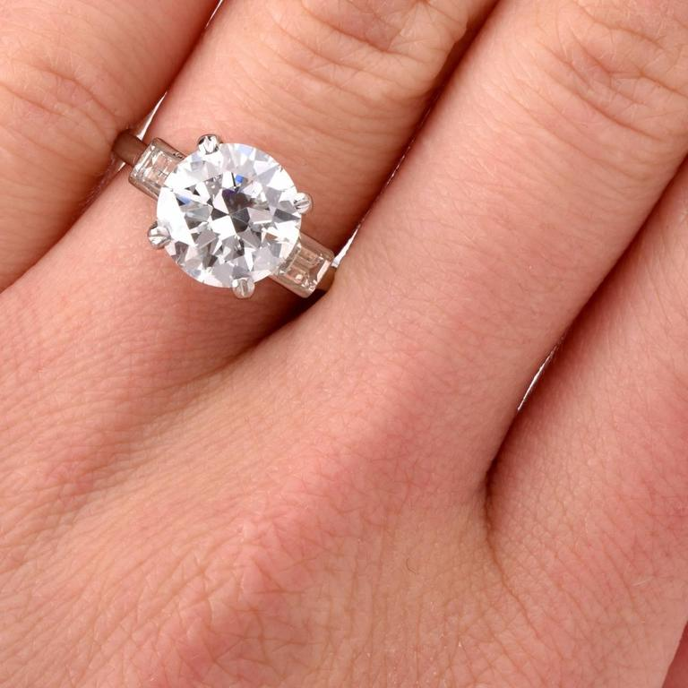 Cartier Diamond Platinum Solitaire Engagement Ring 7