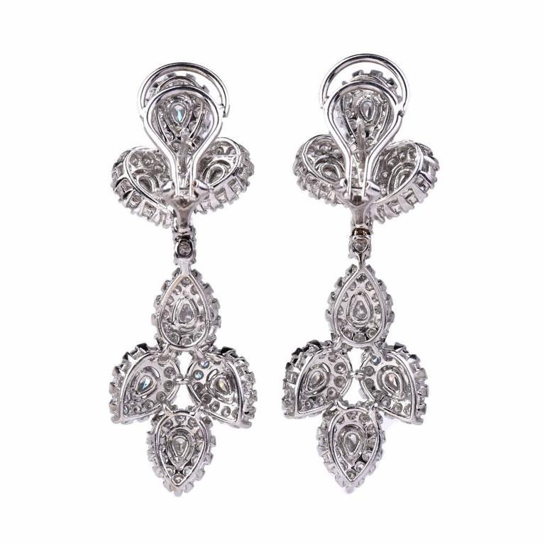 Girandole Era Glamorous Diamond Gold Chandelier Earrings 6