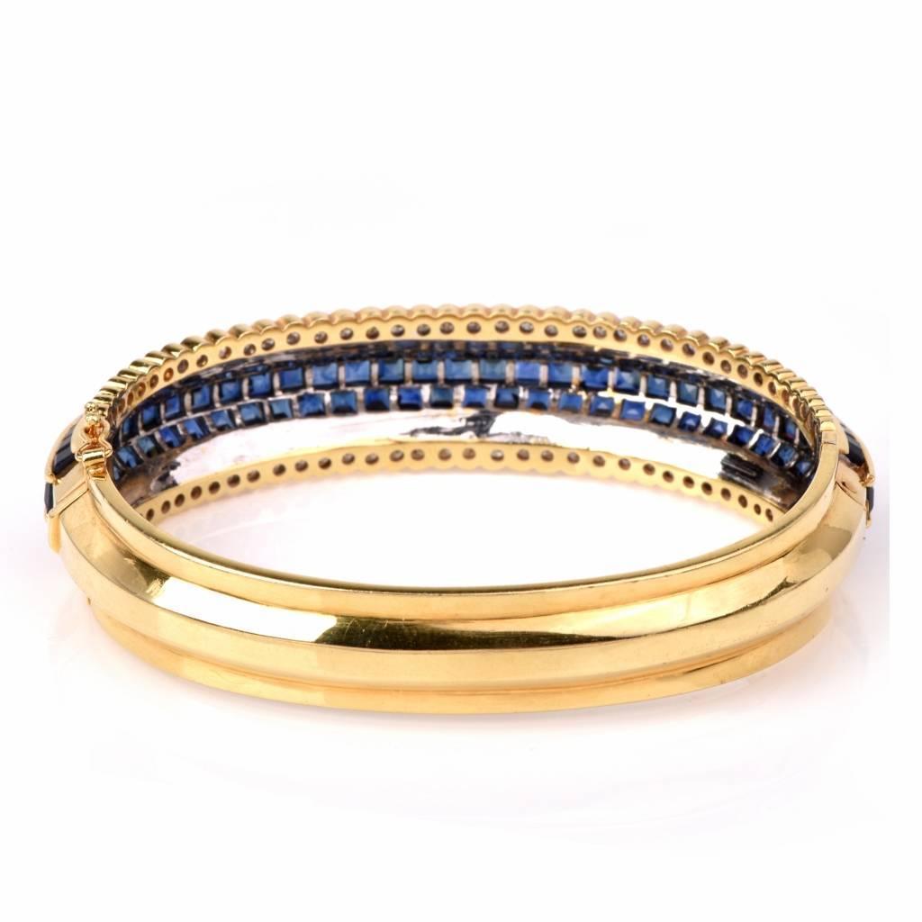Blue Sapphire Diamond Gold Bangle Bracelet At 1stdibs. Cushion Diamond Rings. Penguin Brooch. Heart Bangle Bracelet. Orion Pendant. Princess Cut Pendant. Moon Dust Pendant. Initial Lockets. Canary Diamond Engagement Rings