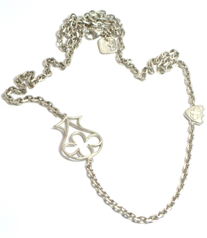 Black Diamond Palladium Necklace For Sale at 1stdibs
