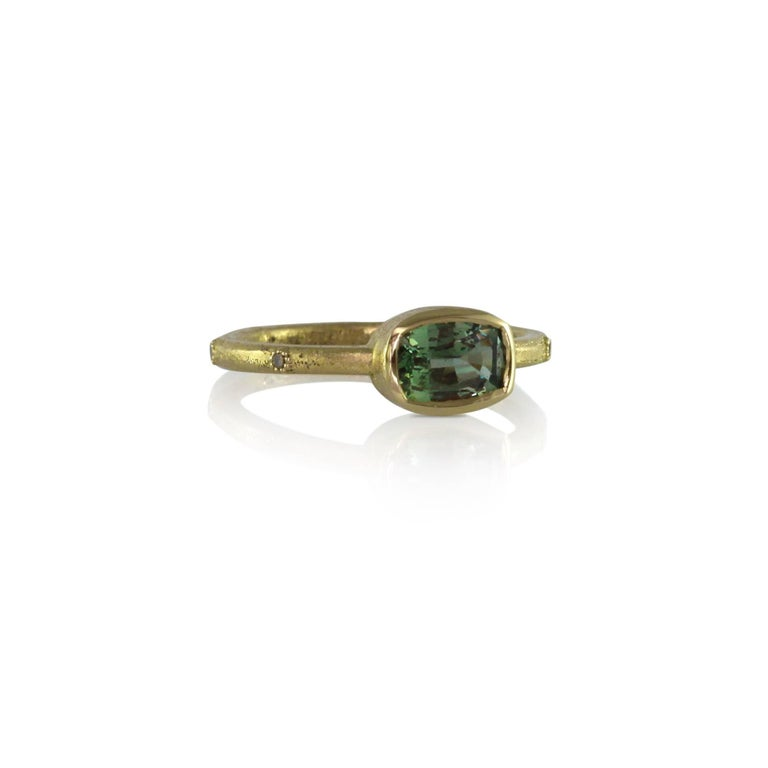 Luca Jouel Green Sapphire & Champagne Diamond Gold Ring 3