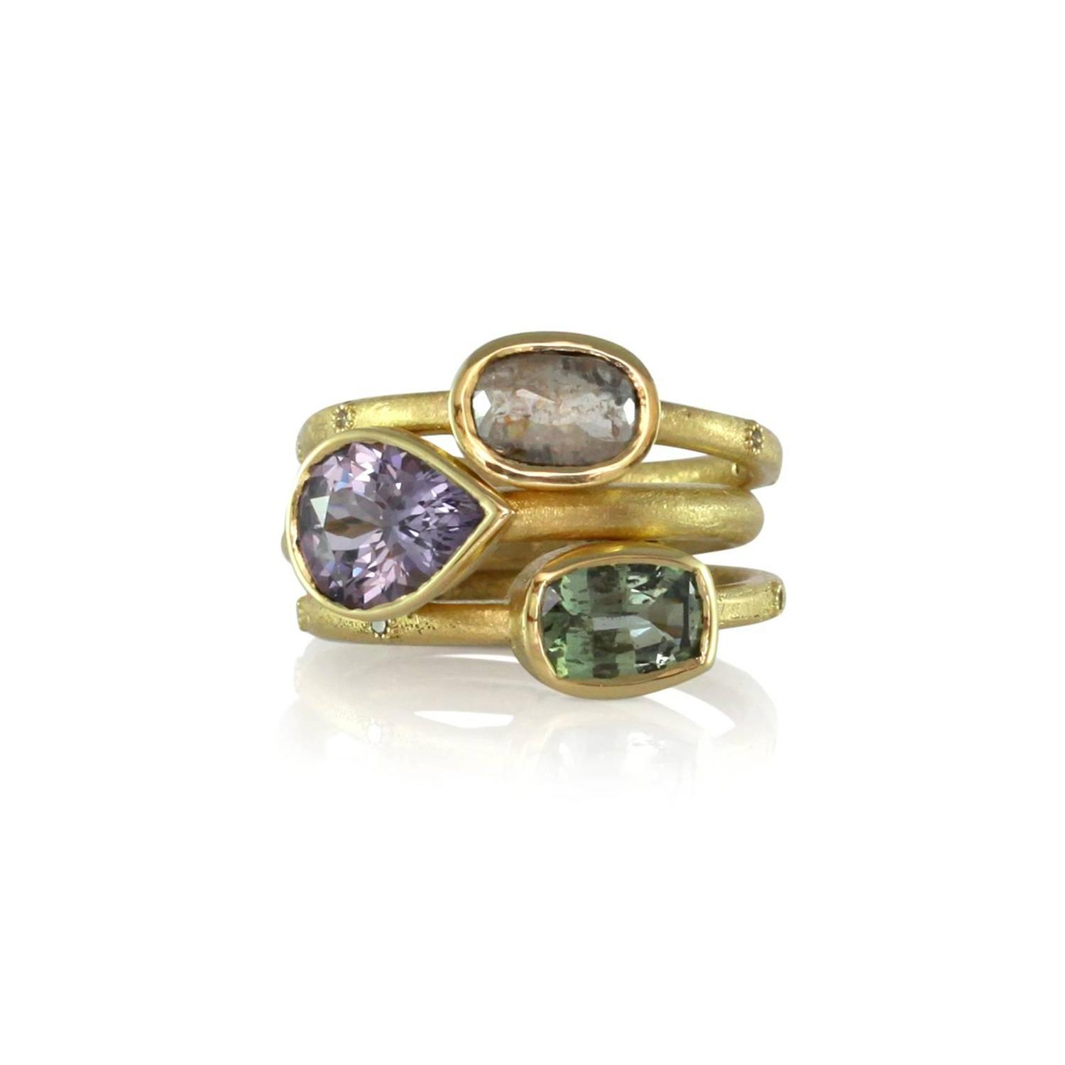 purple spinel and gold ring at 1stdibs