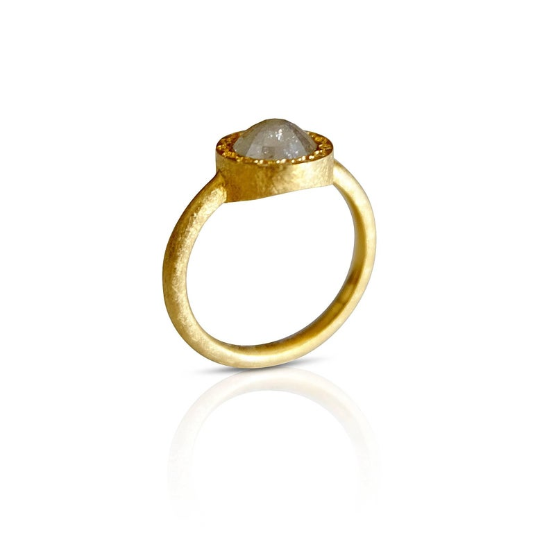 Rose Cut Luca Jouel Tamboli Diamond Gold Ring For Sale