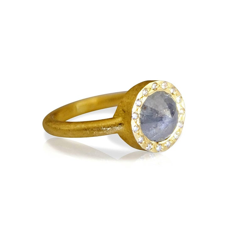 Contemporary Luca Jouel Tamboli Diamond Gold Ring For Sale