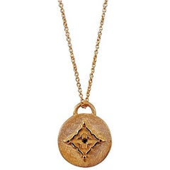 Black Diamond Rose Gold Necklace