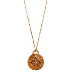 Luca Jouel Rosy Lampein Diamond Rose Gold Necklace