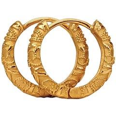 Luca Jouel Ornate Floral Earrings in 18ct Yellow Gold