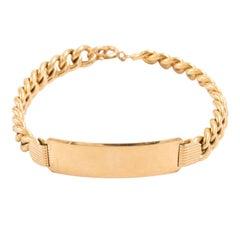 Midcentury 18 Karat ID Bracelet