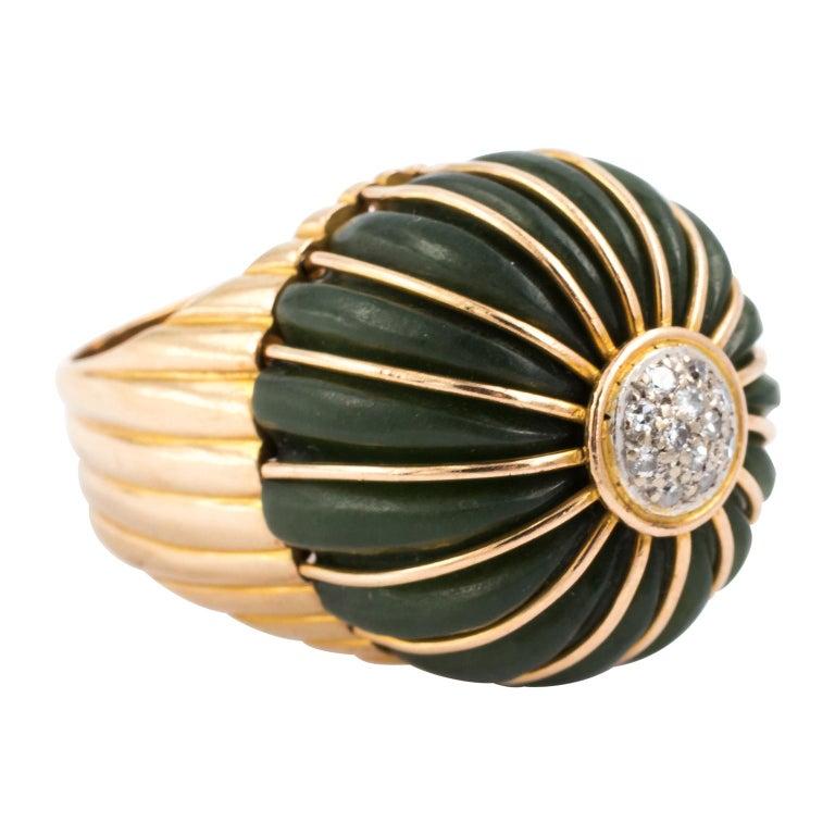 Jade Cocktail Ring, circa 1960