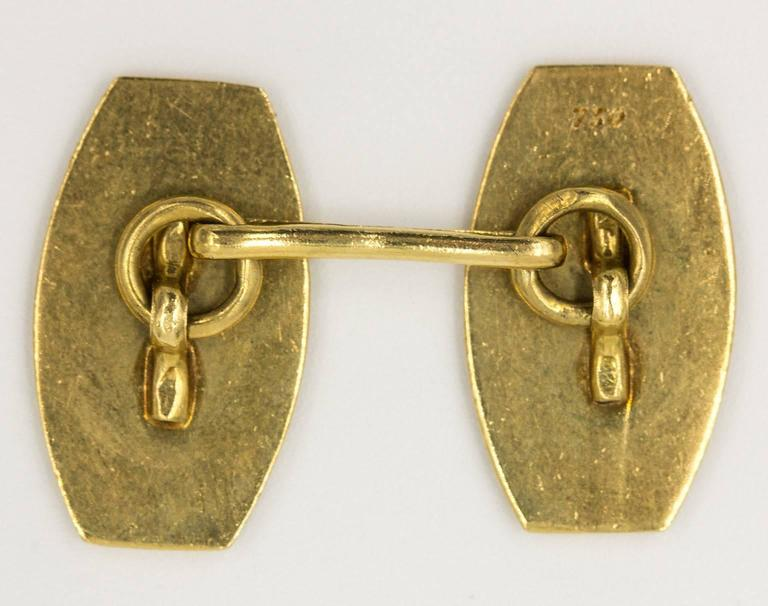 18 Karat Gold Art Deco Cufflinks In Good Condition For Sale In St.amford, CT