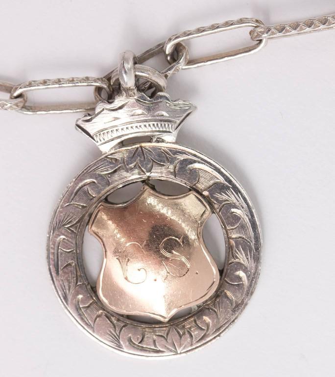 Sterling Medal Necklace For Sale 2