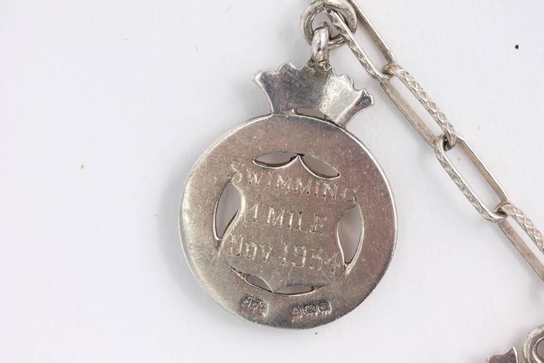 Sterling Medal Necklace For Sale 3