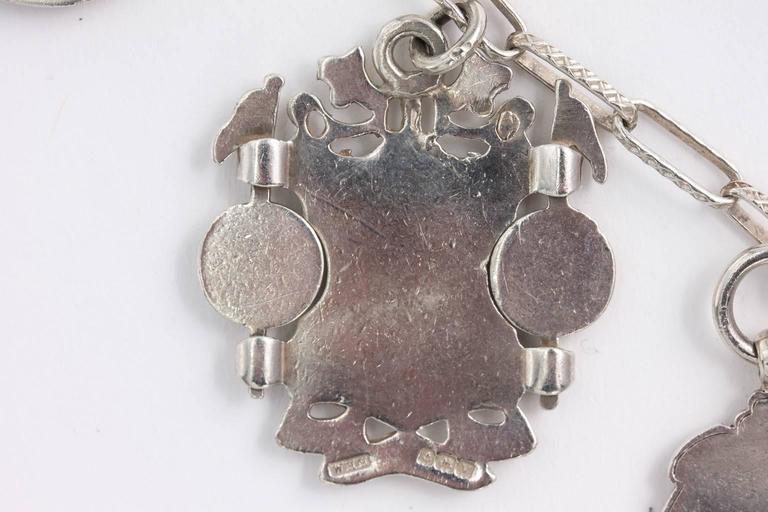 Sterling Medal Necklace For Sale 4