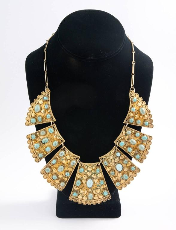 1920s Persian Bib Necklace 5